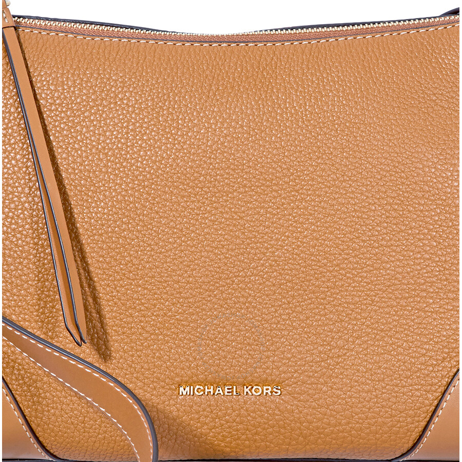 ca61a4d1663b0 Michael Kors Crosby Medium Pebbled Leather Messenger Bag- Acorn ...