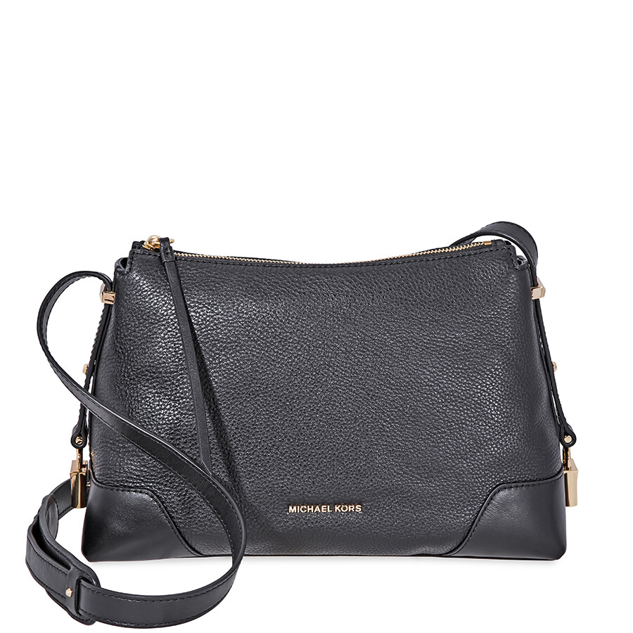 39efb6fc865f Michael Kors Crosby Medium Pebbled Leather Messenger Bag- Black Item No.  30H8GCBM2L-001