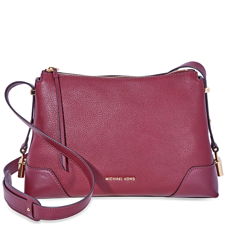 14927b819368 Michael Kors Crosby Medium Pebbled Leather Messenger Bag- Oxblood Item No.  30H8GCBM2L-610
