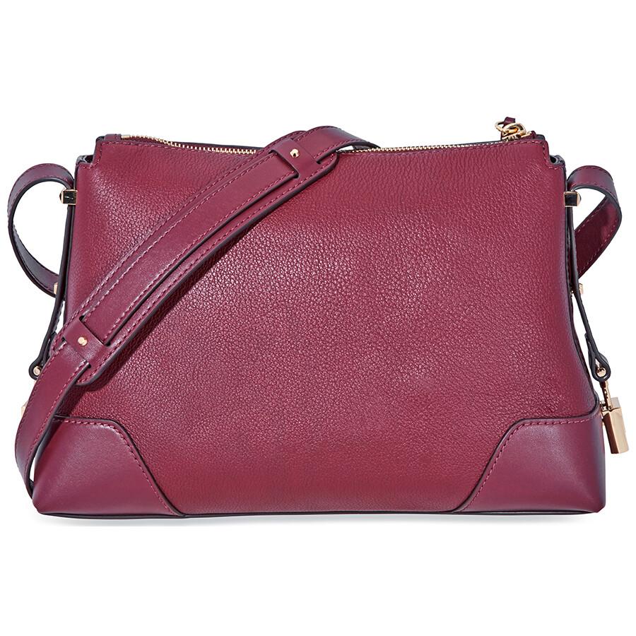 6ef7add0ff98 Michael Kors Crosby Medium Pebbled Leather Messenger Bag- Oxblood ...