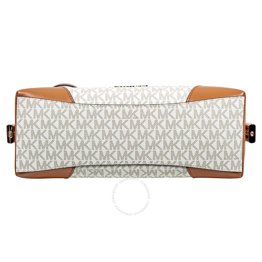 de572031e97 Michael Kors Crosby Medium Signature Logo Print Messenger Bag - Vanilla /  Acorn