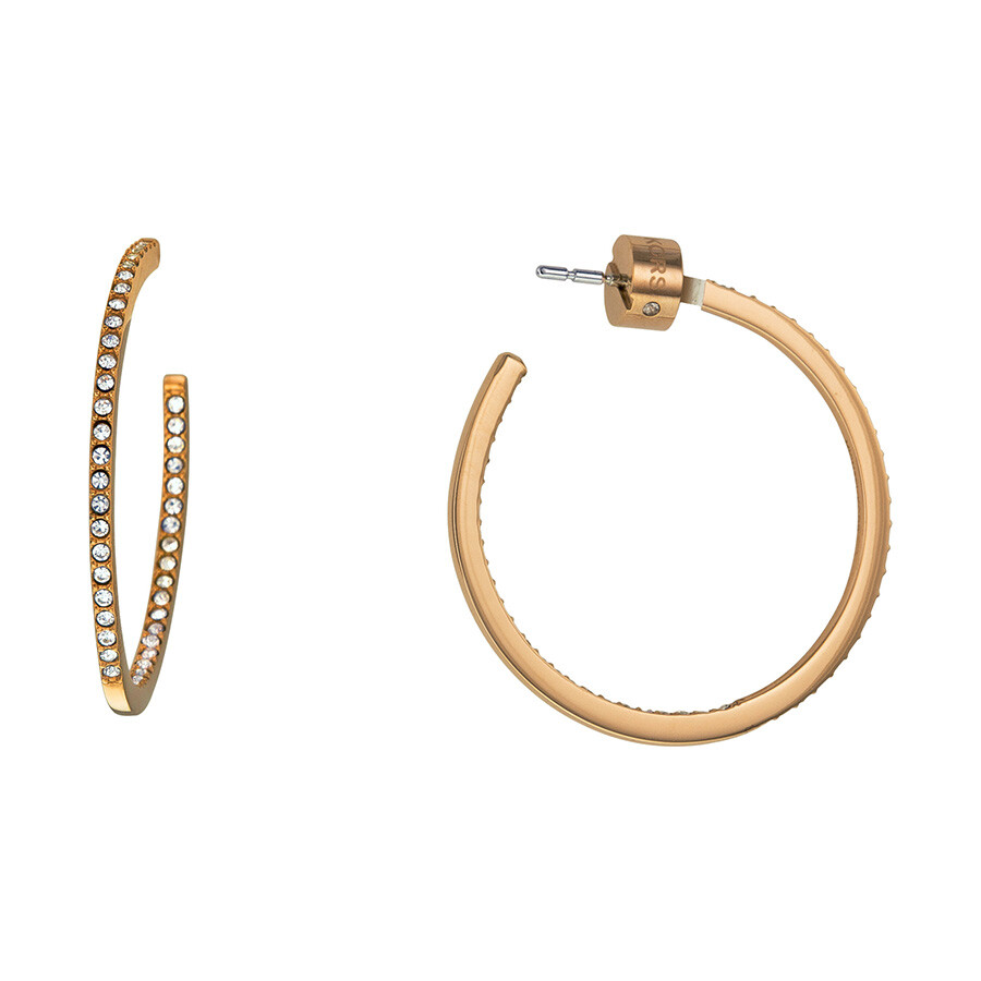 michael hoop earrings michael kors pave gold tone small hoop 8477