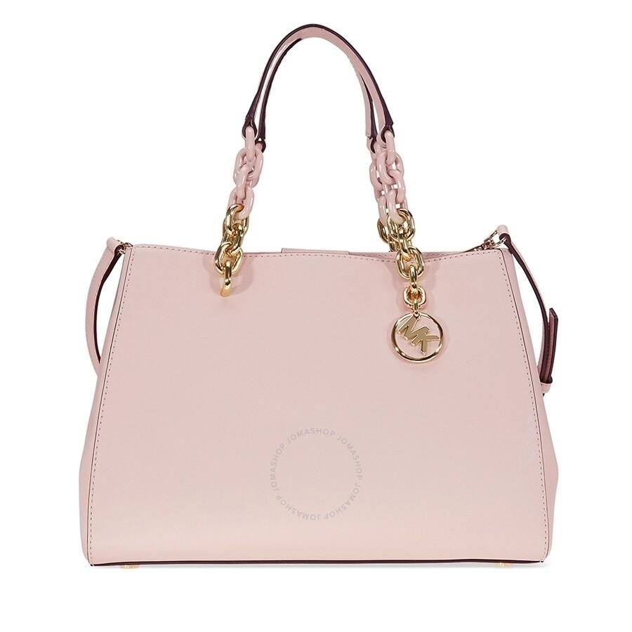 b8f3f5bb220 Michael Kors Cynthia Saffiano Leather Satchel - Soft Pink Item No.  MK30F7GCYS2L-187