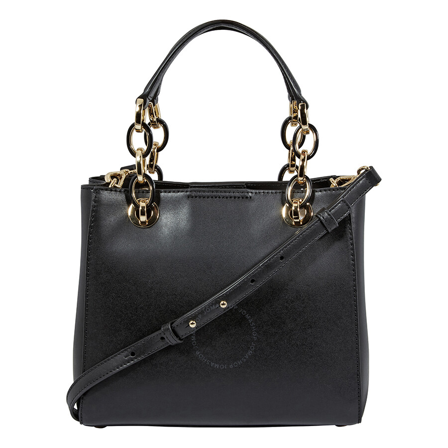 71982ed914cd Michael Kors Cynthia Small Leather Satchel - Black Item No. 30F8GCYS0L-001