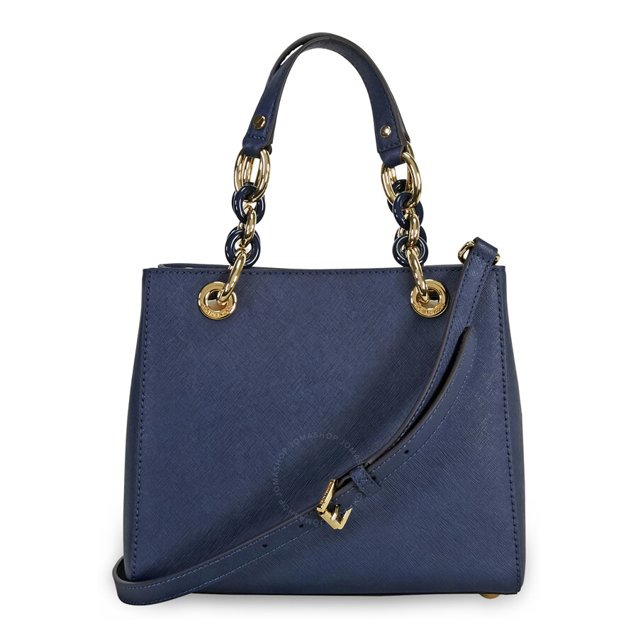 michael kors cynthia small leather satchel navy cynthia michael kors handbags handbags. Black Bedroom Furniture Sets. Home Design Ideas