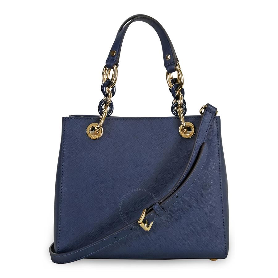08ea3ba5512265 Michael Kors Handbags Navy Cynthia   Stanford Center for Opportunity ...