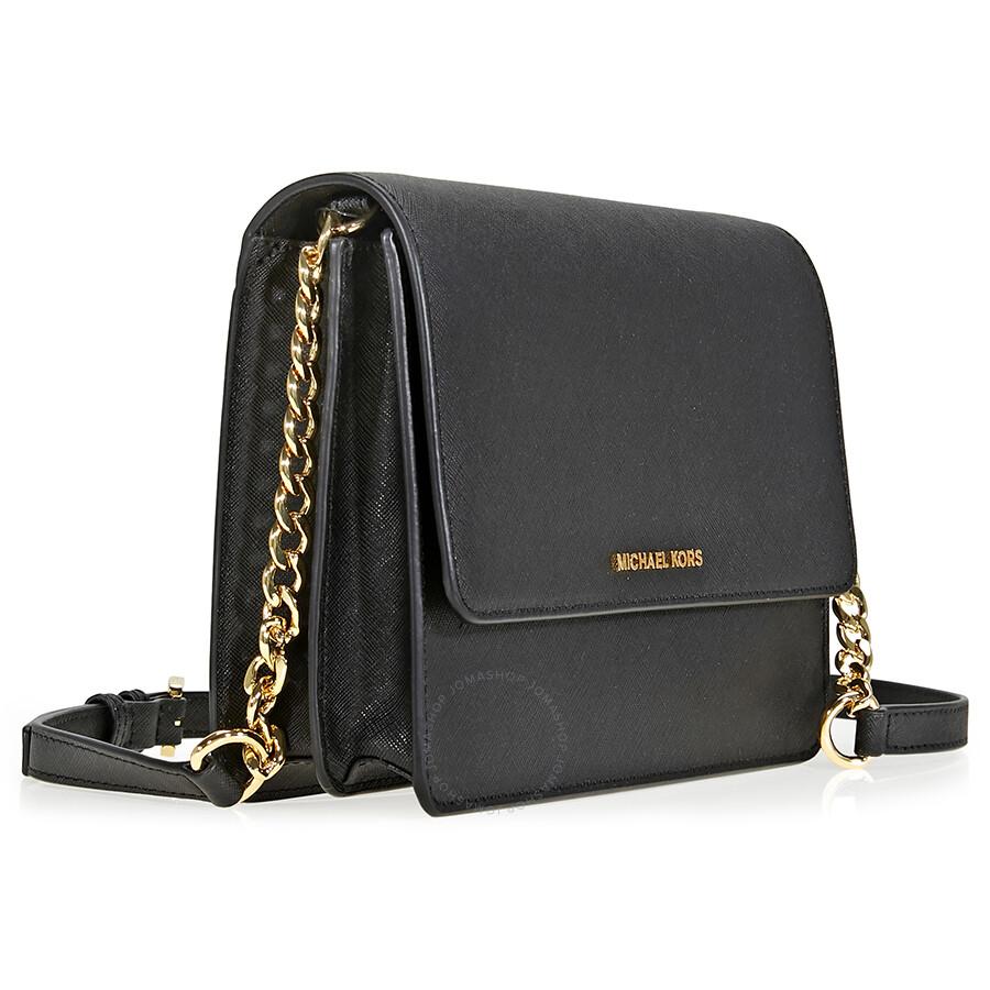 f9a14b033c57 Michael Kors Daniela Large Crossbody- Black - Michael Kors Handbags ...
