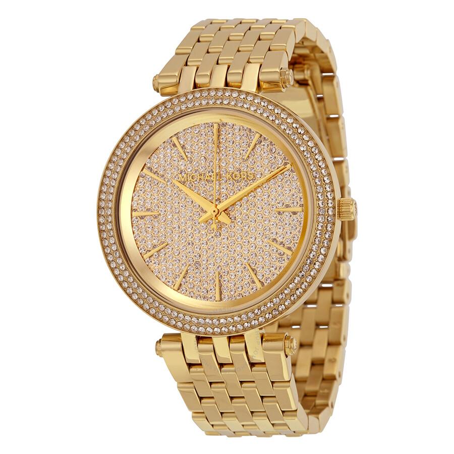 a0296cb6f364 Michael Kors Darci Crystal Pave Dial Ladies Watch MK3438 - Darci ...