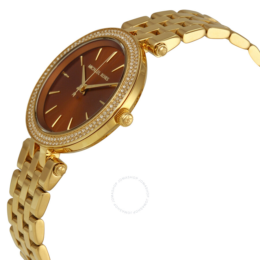 75c000467642 ... Michael Kors Darci Mini Gold Dial Gold-tone Ladies Watch MK3408 ...