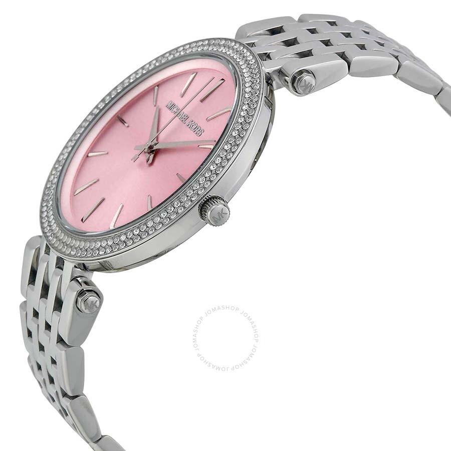 42d65940311f ... Michael Kors Darci Pink Dial Stainless Steel Ladies Watch MK3352 ...