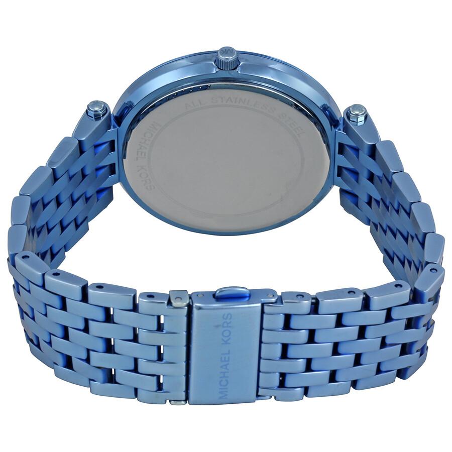 c8671d2121f9 Michael Kors Darci Silver Dial Ladies Blue Tone Watch MK3675 - Darci ...