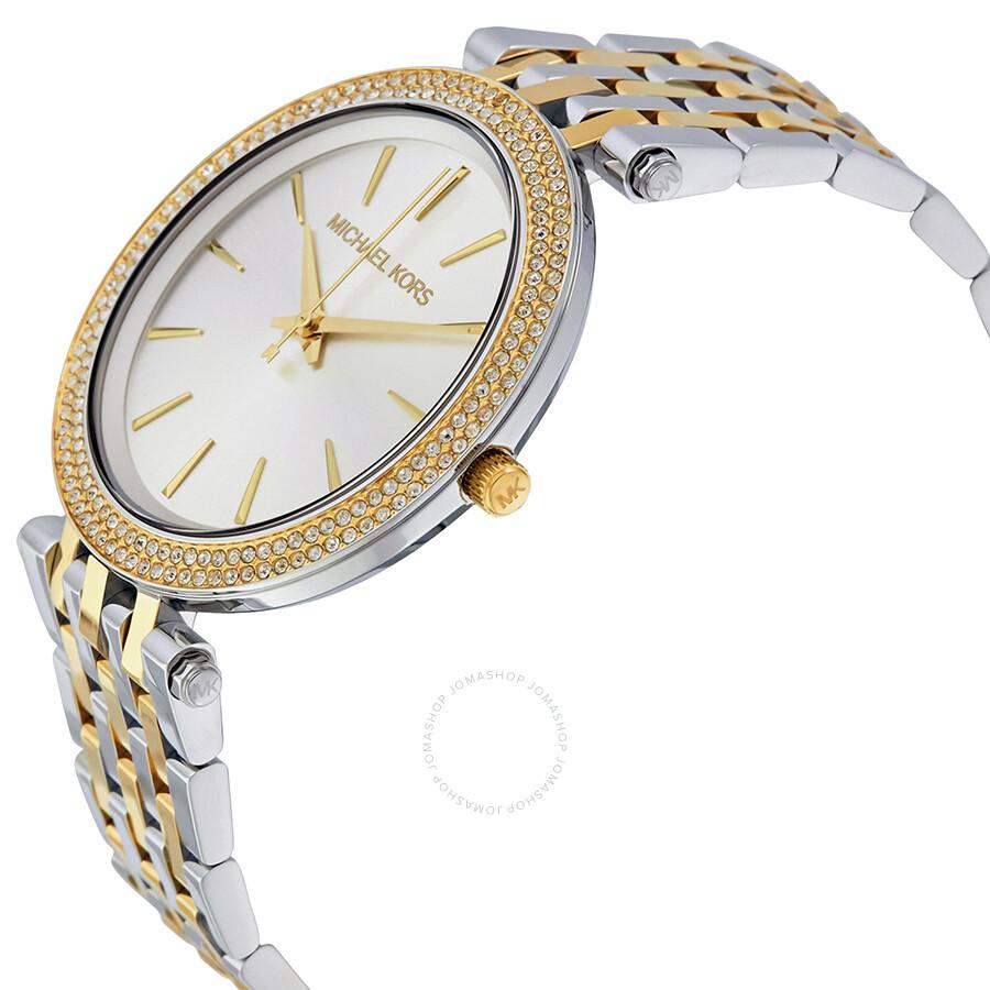 506f8414b669 Michael Kors Darci Silver Dial Two-tone Ladies Watch MK3215 - Darci ...