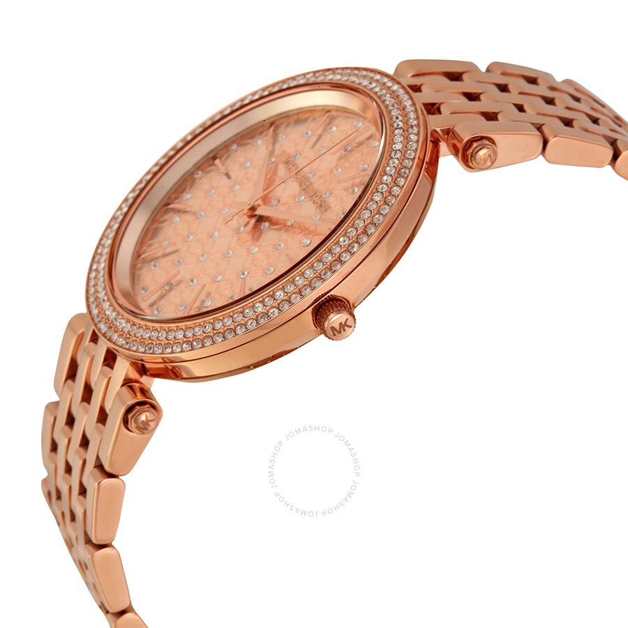 Michael Kors Darcy Rose Dial Rose Goldtone Ladies Watch MK3399