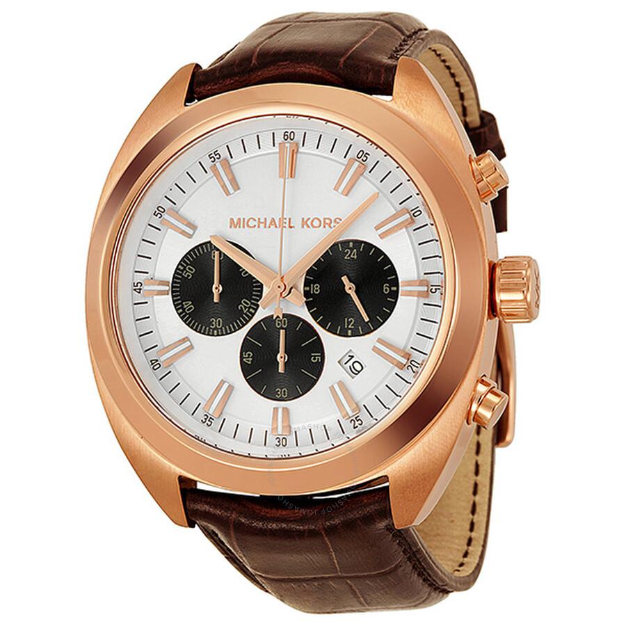 michael kors dean chronograph rose gold tone men s watch mk8271