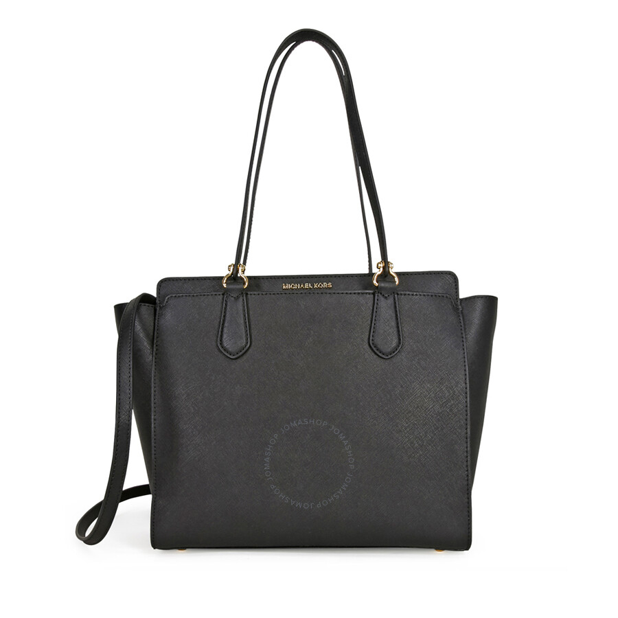 2461414b1110 Michael Kors Dee Dee Convertible Leather Tote - Black Item No.  30F6GTWT3L-001