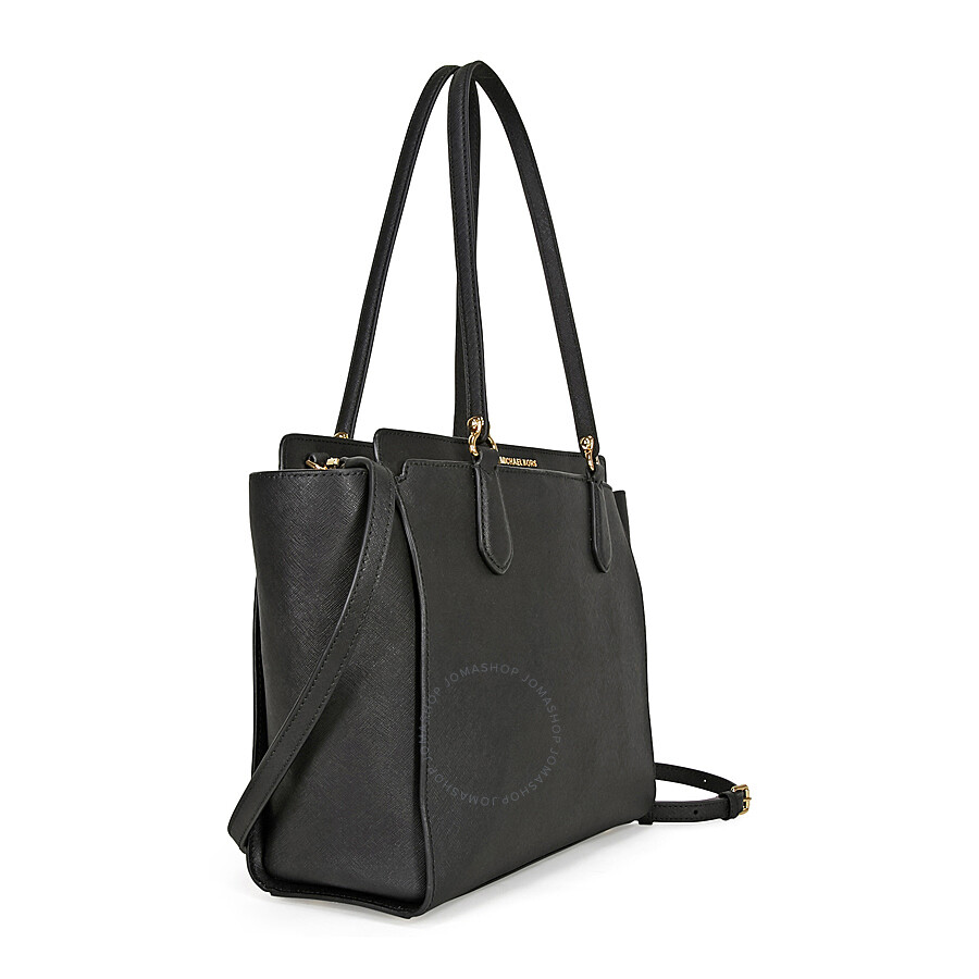 a733836b66cc Michael Kors Dee Dee Convertible Leather Tote - Black - Dee Dee ...