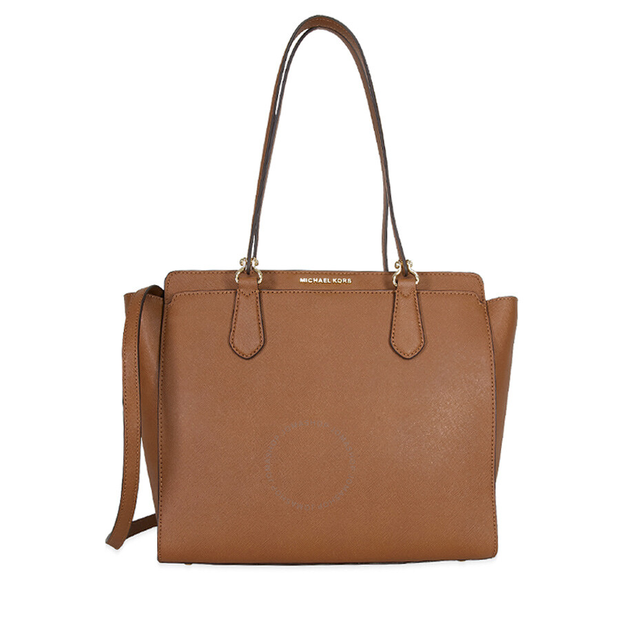 9bc73c765a6e Michael Kors Dee Dee Convertible Leather Tote - Luggage - Dee Dee ...