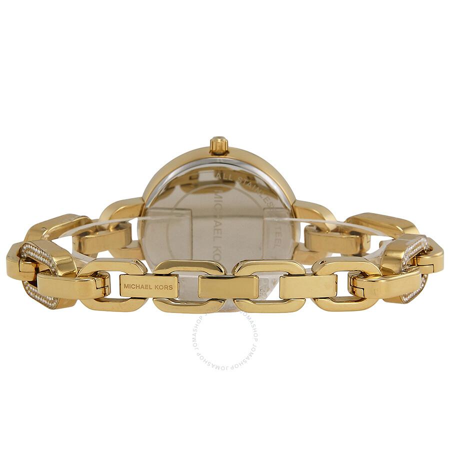 michael kors delaney gold crystal pave gold tone ladies. Black Bedroom Furniture Sets. Home Design Ideas