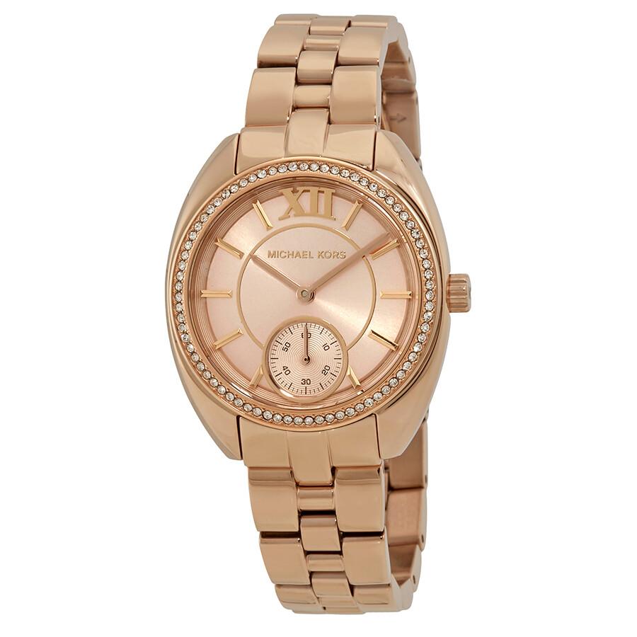 Michael Kors Dena Rose Gold Dial Ladies Gift Set MK3606 - Michael ...