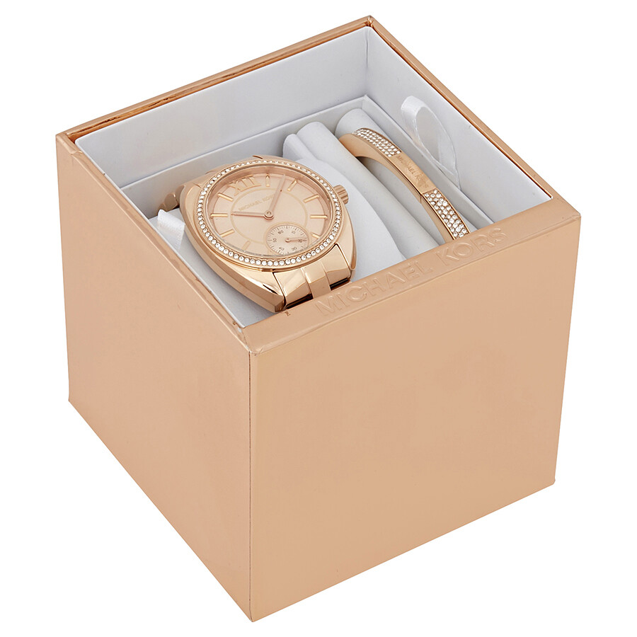 ... Michael Kors Dena Rose Gold Dial Ladies Gift Set MK3606  sc 1 st  Jomashop & Michael Kors Dena Rose Gold Dial Ladies Gift Set MK3606 - Michael ... Aboutintivar.Com