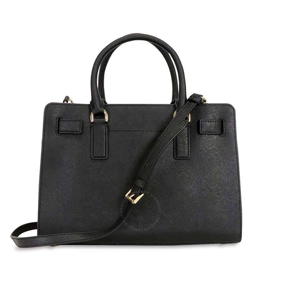 551aee6420796 Michael Kors Dillon Saffiano Leather Satchel - Black Item No. 30H4GAIS3L-001