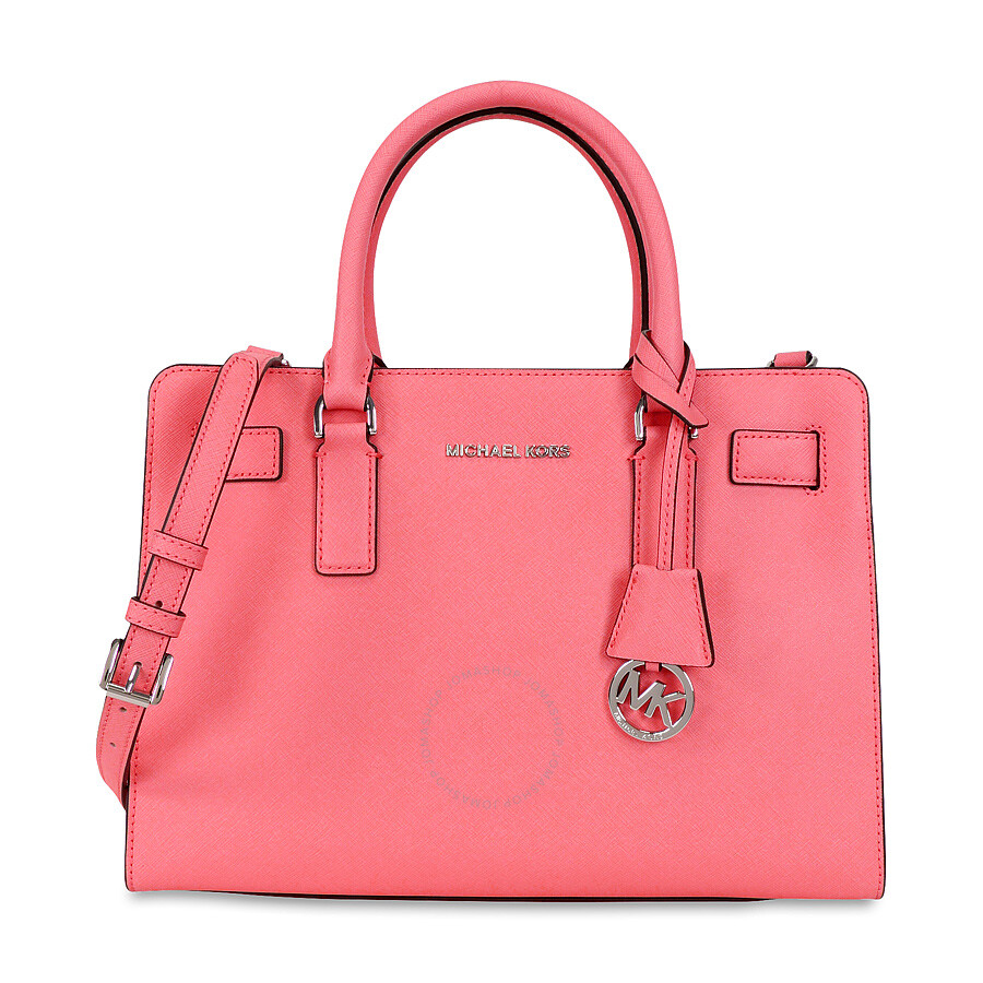 5eea6cbce93a Michael Kors Dillon Saffiano Leather Satchel - Coral Item No. 30H5SAIS3L-802