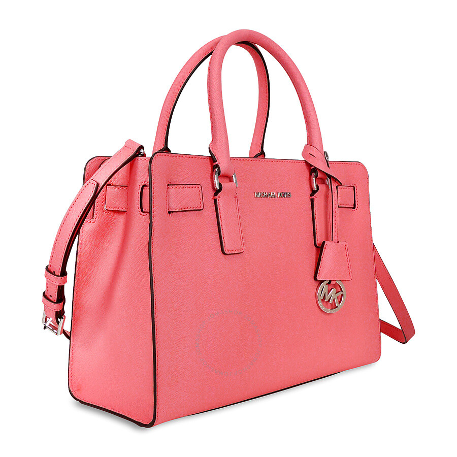 dff9e96ea9 Michael Kors Dillon Saffiano Leather Satchel - Coral - Dillon ...