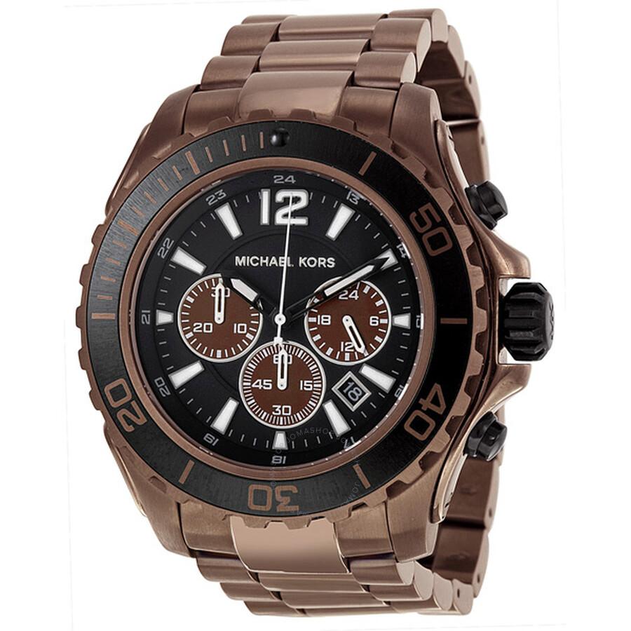 132eddcc36 Michael Kors Drake Chronograph Black Dial Men s Watch MK8232 ...