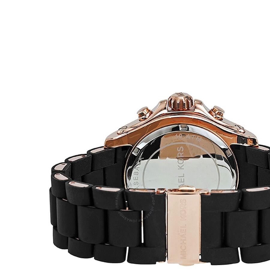 a58a54217f ... Michael Kors Drake Chronograph Black Dial Rose Gold-tone Men s Watch  MK8269 ...