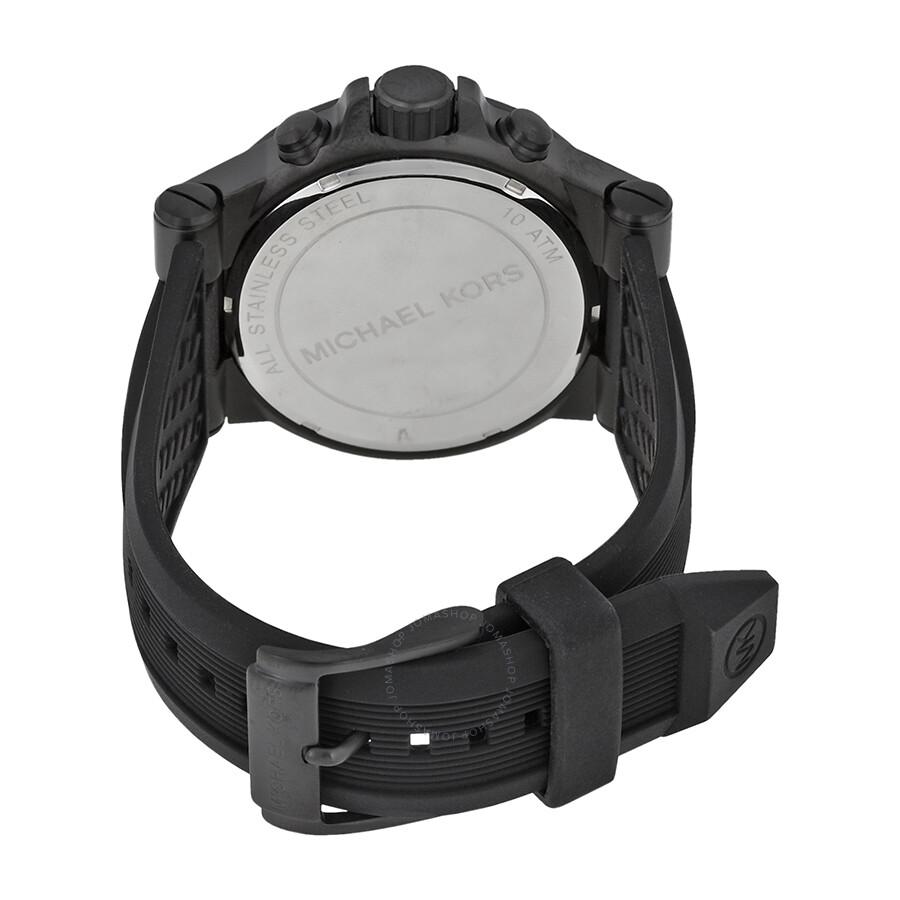 a5d6d64719a0 Michael Kors Dylan Black Silicone Strap Men s Watch MK8152 - Dylan ...