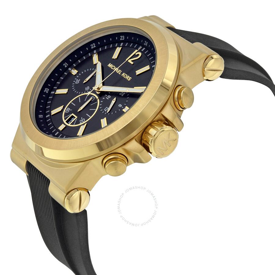 michael kors chronograph black s