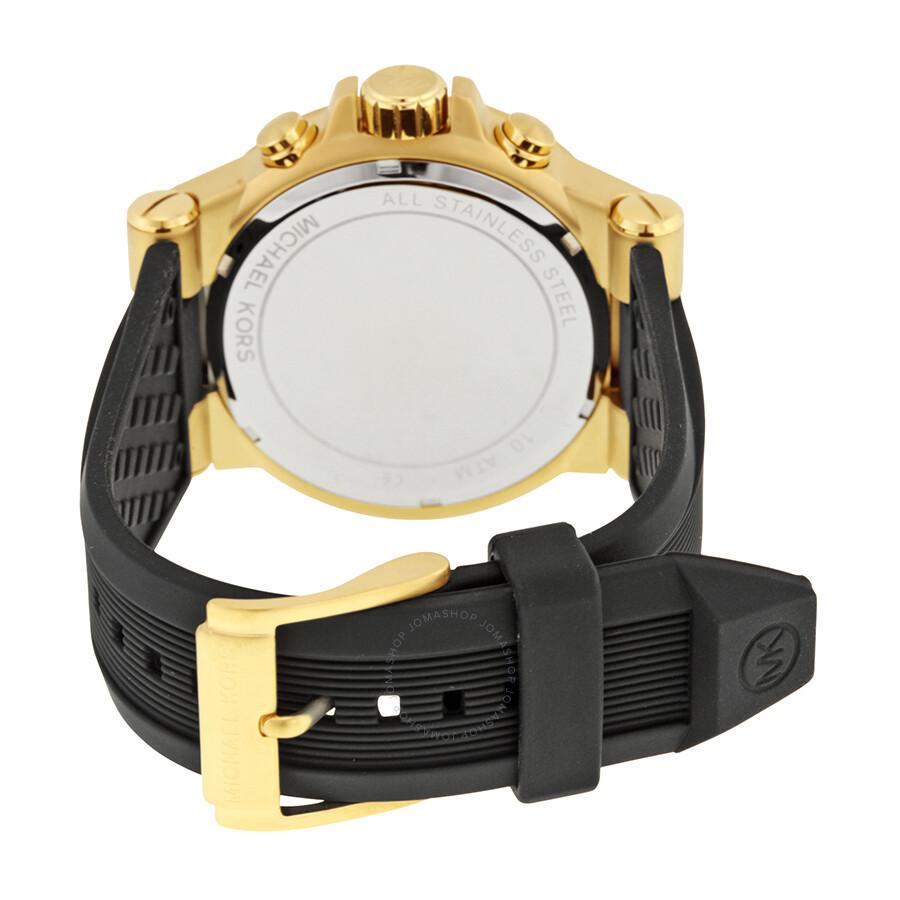 93eab4c90a0e Michael Kors Dylan Chronograph Black Dial Men s Watch MK8445 - Dylan ...