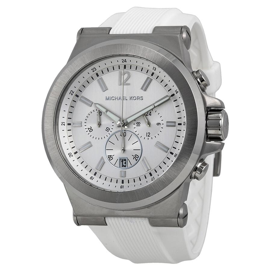 bc0118986927 Michael Kors Dylan Silver Dial Chronograph Men s Watch MK8380 ...