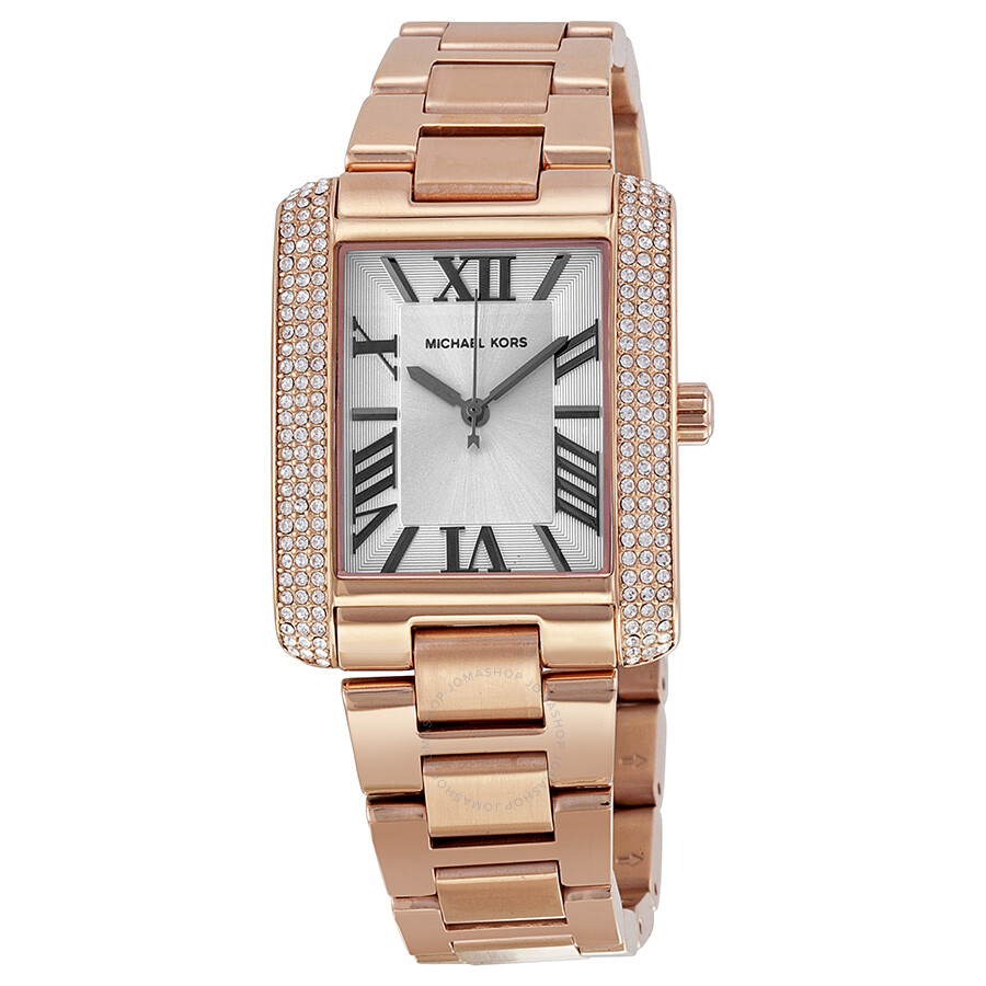0a7dda038869 Michael Kors Emery White Dial Rose Gold-tone Stainless Steel Ladies Watch  Item No. MK3255