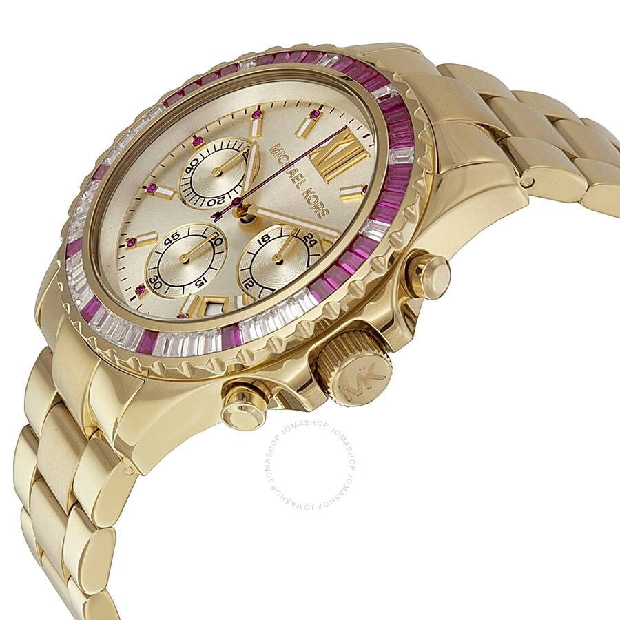 c61ca5731368 ... Michael Kors Everest Chronograph Champagne Dial Gold-tone Ladies Watch  ...