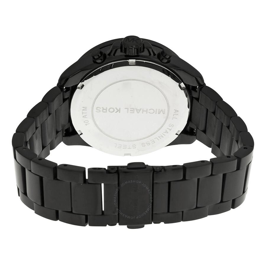 eb5d6e505128b ... Michael Kors Everest Chronograph Rose Dial Black Ion-plated Ladies Watch  MK5879 ...
