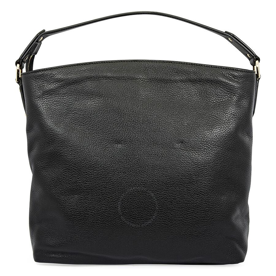 dc894682d342 Michael Kors Evie Large Pebbled Leather Shoulder Bag- Black ...