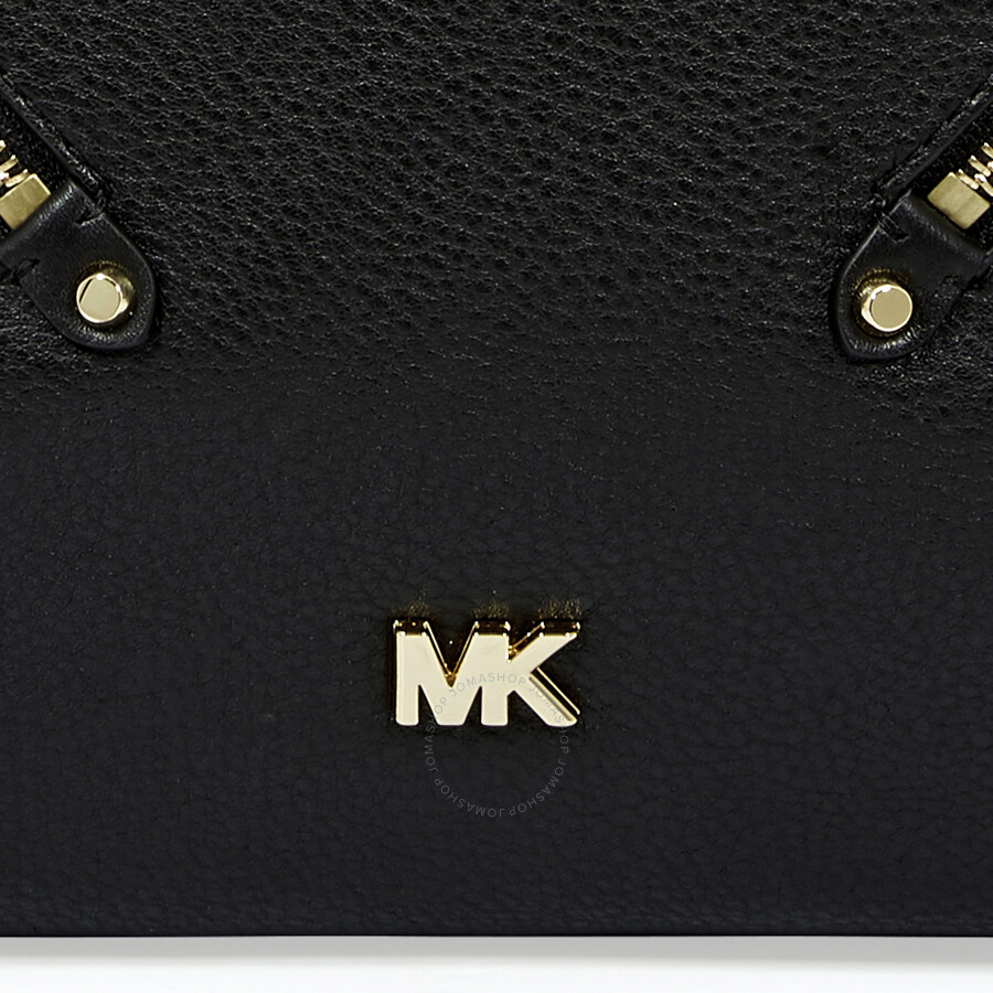 c9f16ddd107 Michael Kors Evie Large Pebbled Leather Shoulder Bag- Black ...