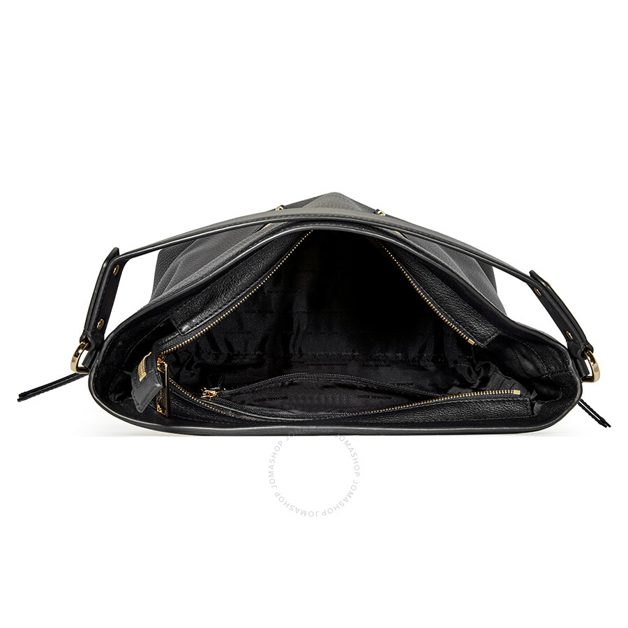 88230e2d25a1 Michael Kors Evie Large Pebbled Leather Shoulder Bag- Black ...