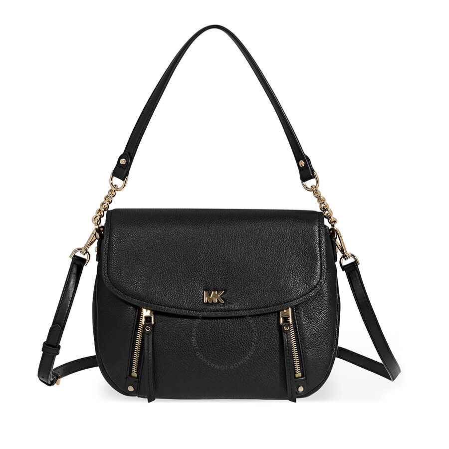 4d5e342674 Michael Kors Evie Medium Learher Shoulder Bag- Black Item No. 30S8GZUF2L-001