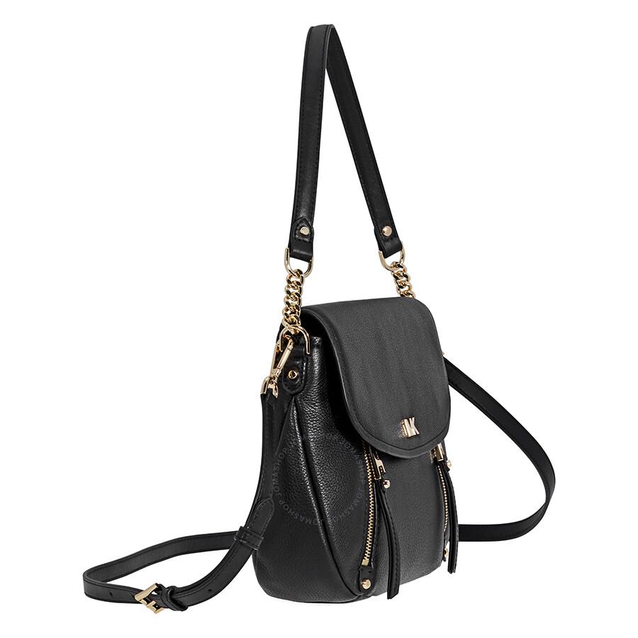 dc96372e8c4076 Michael Kors Evie Medium Learher Shoulder Bag- Black - Michael Kors ...
