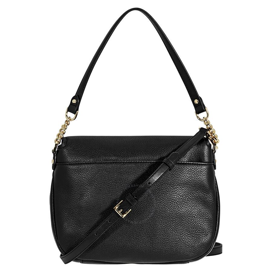b00a7390a247 Michael Kors Evie Medium Learher Shoulder Bag- Black Item No. 30S8GZUF2L-001