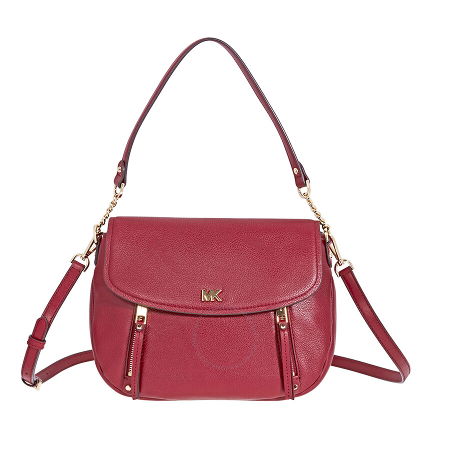 66644bd1efb793 Michael Kors Evie Medium Learher Shoulder Bag- Maroon Item No.  30S8GZUF2L-550