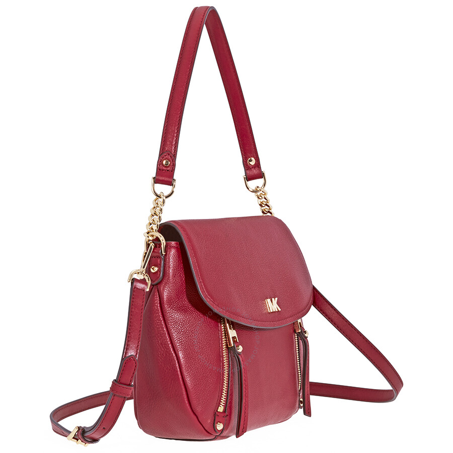 e00f2cf04b Michael Kors Evie Medium Learher Shoulder Bag- Maroon - Michael Kors ...