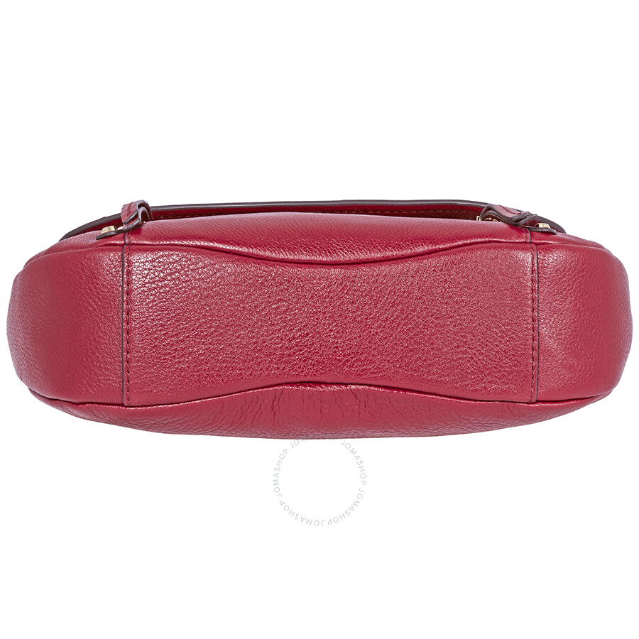 0db000e76719 Michael Kors Evie Medium Learher Shoulder Bag- Maroon - Michael Kors ...