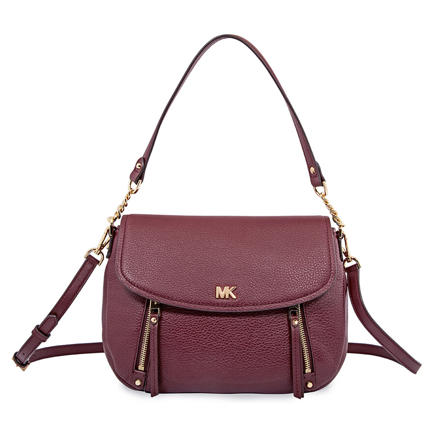 be2809e48780 Michael Kors Evie Medium Leather Shoulder Bag - Oxblood Item No.  30S8GZUF2L-610