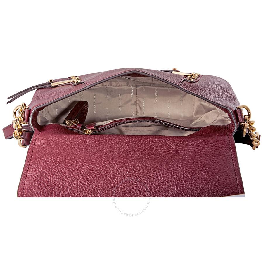 33977bfb4159cb Michael Kors Evie Medium Leather Shoulder Bag - Oxblood - Michael ...