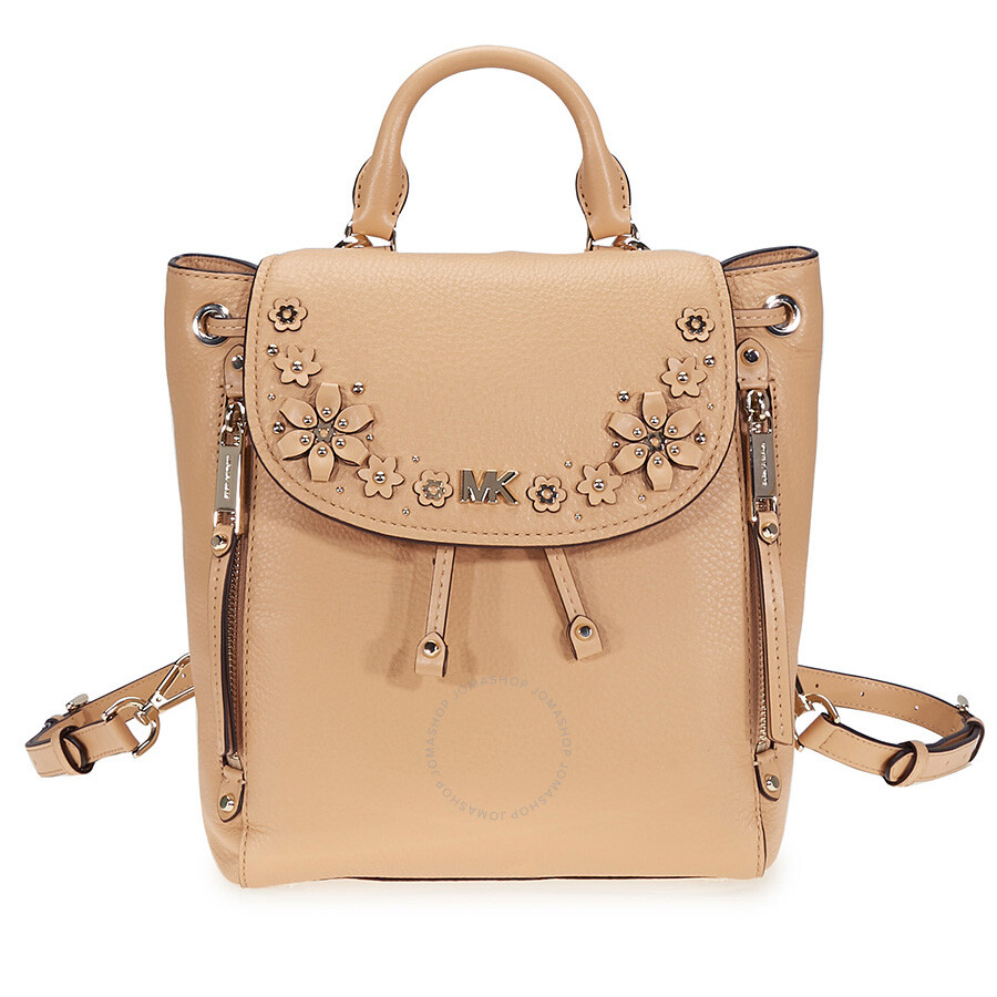 1dffb5788bc5a1 Michael Kors Evie Small Flower Studded Backpack- Butternut Item No.  30T8TZUB1Y-106