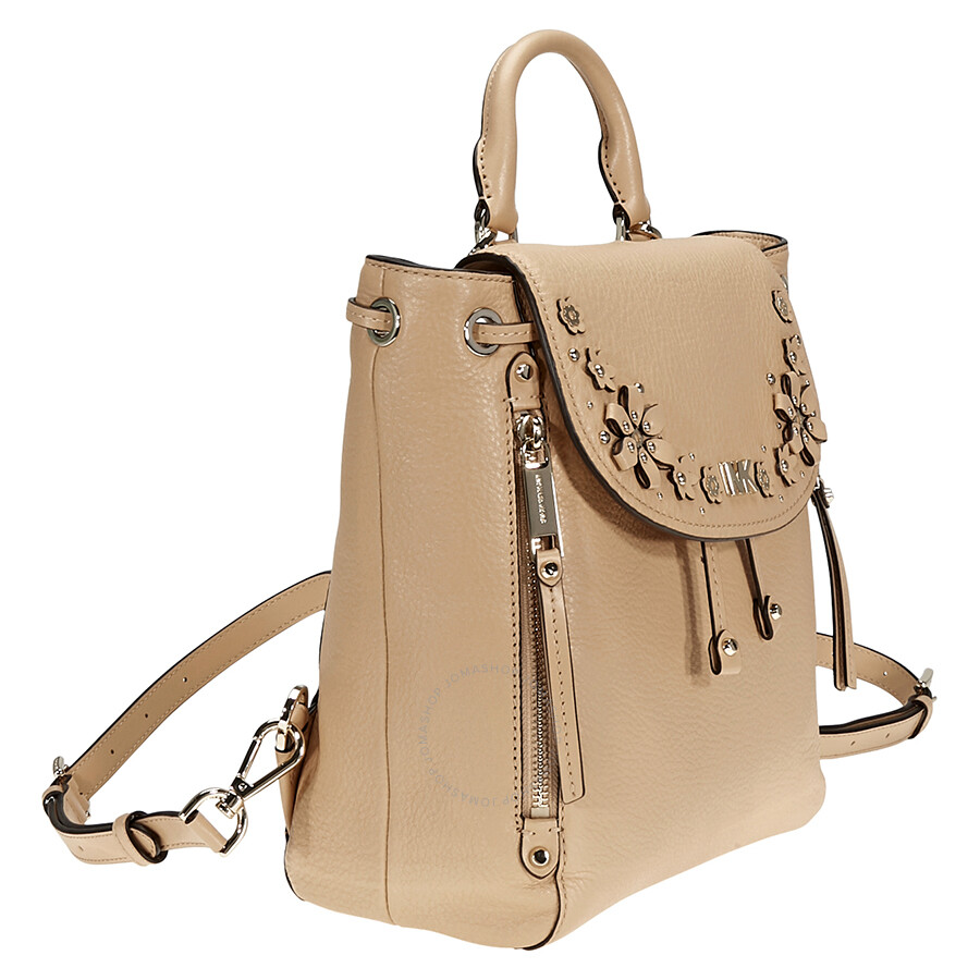 6f480b3247b7 Michael Kors Evie Small Flower Studded Backpack- Butternut - Michael ...