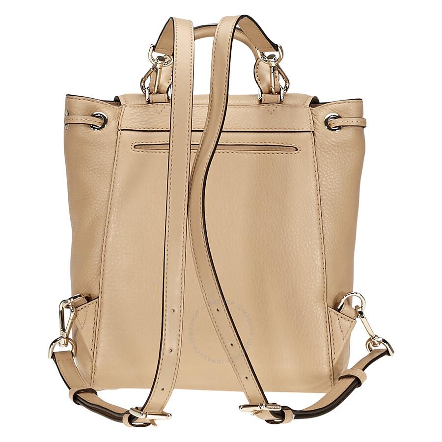 595c46782a6083 Michael Kors Evie Small Flower Studded Backpack- Butternut - Michael ...